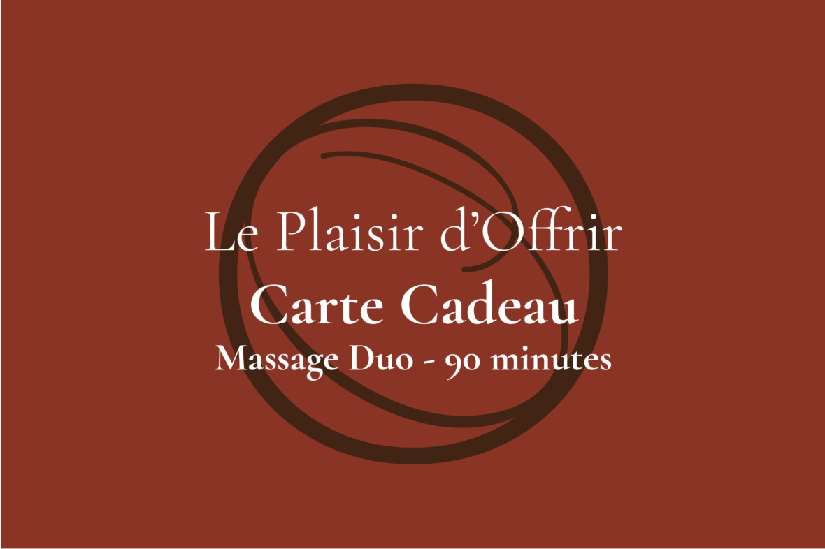Carte Cadeau Ô d'Ambiance Massage duo 90 minutes